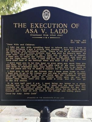 The Executiom of Asa V. Ladd side 2 image, Touch for more information
