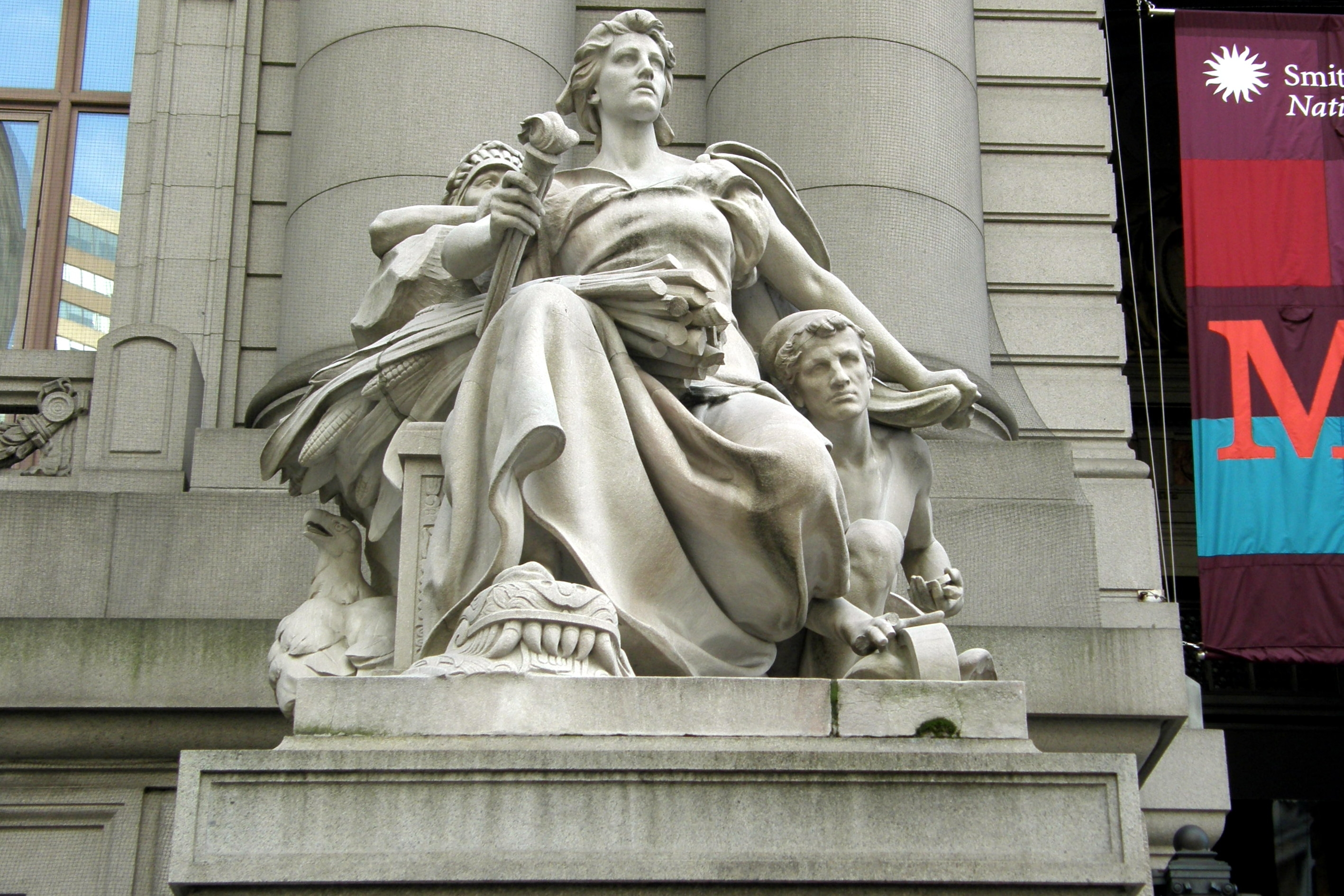 """North America"", by Daniel Chester French"