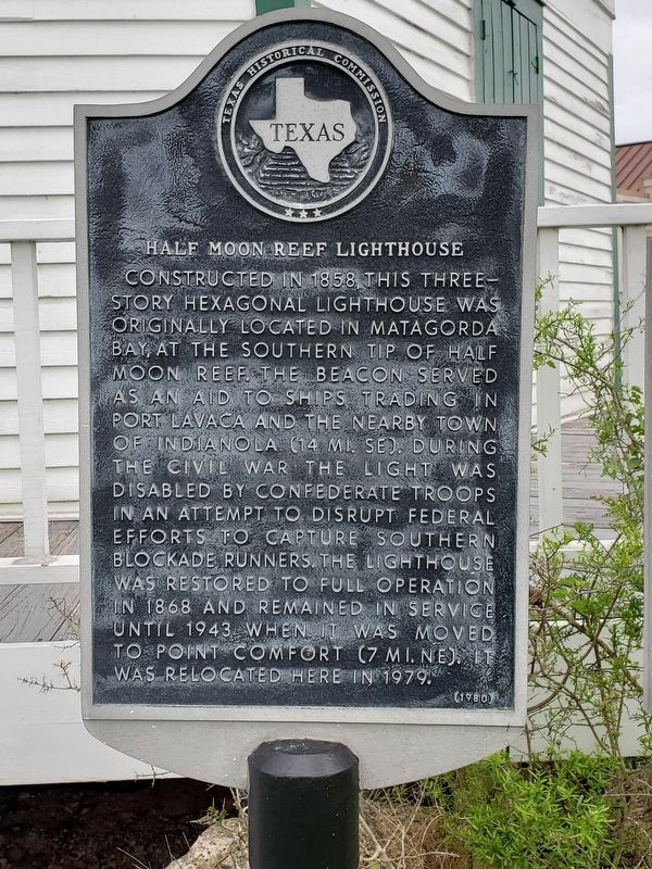 Halfmoon Reef Lighthouse Marker image. Click for full size.