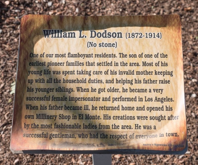 William L. Dodson Marker image. Click for full size.