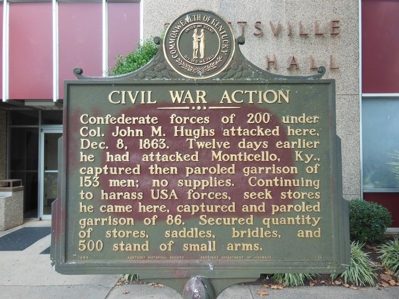 Civil War Action Marker image. Click for full size.
