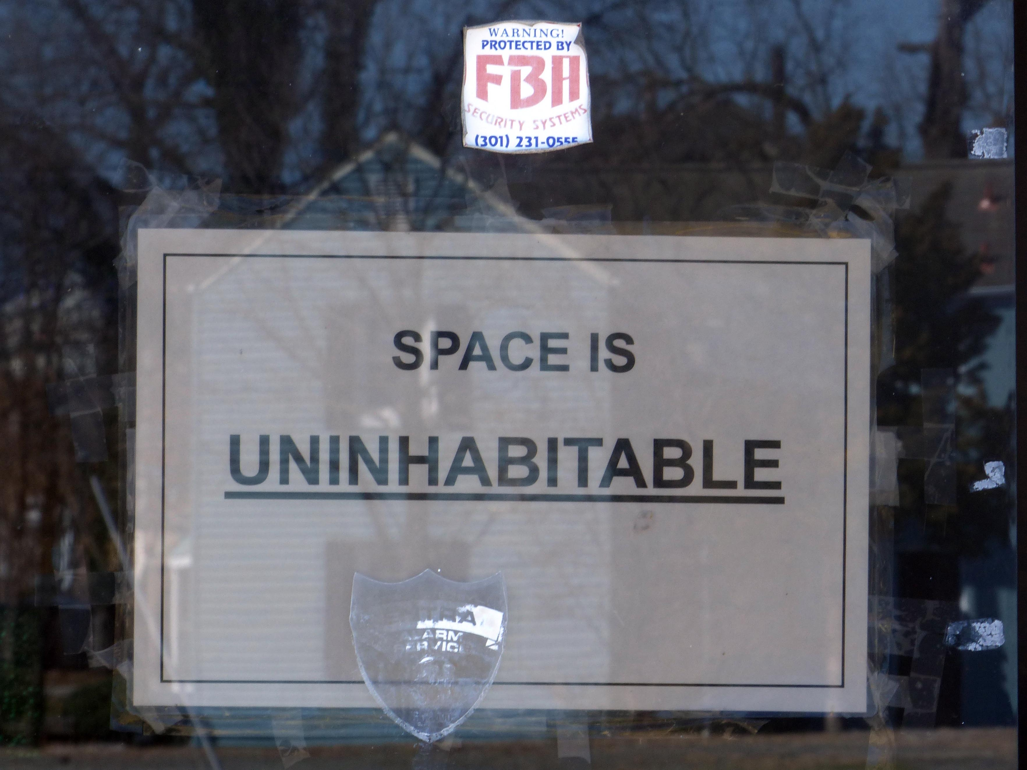 Space is <u>Uninhabitable</u>