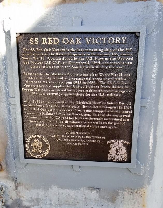 SS Red Oak Victory Marker image. Click for full size.