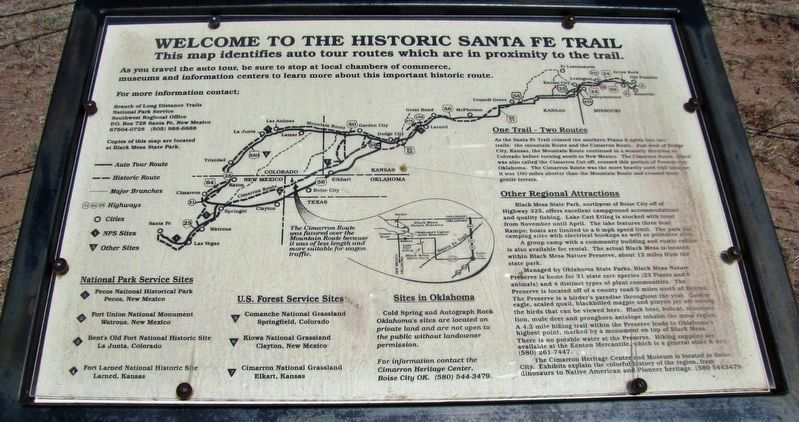 Welcome to the Historic Santa Fe Trail (<i>center panel</i>) image. Click for full size.