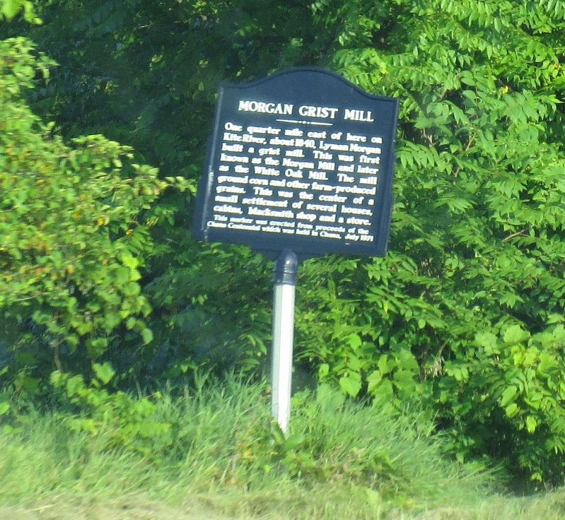 Morgan Grist Mill Marker image. Click for full size.