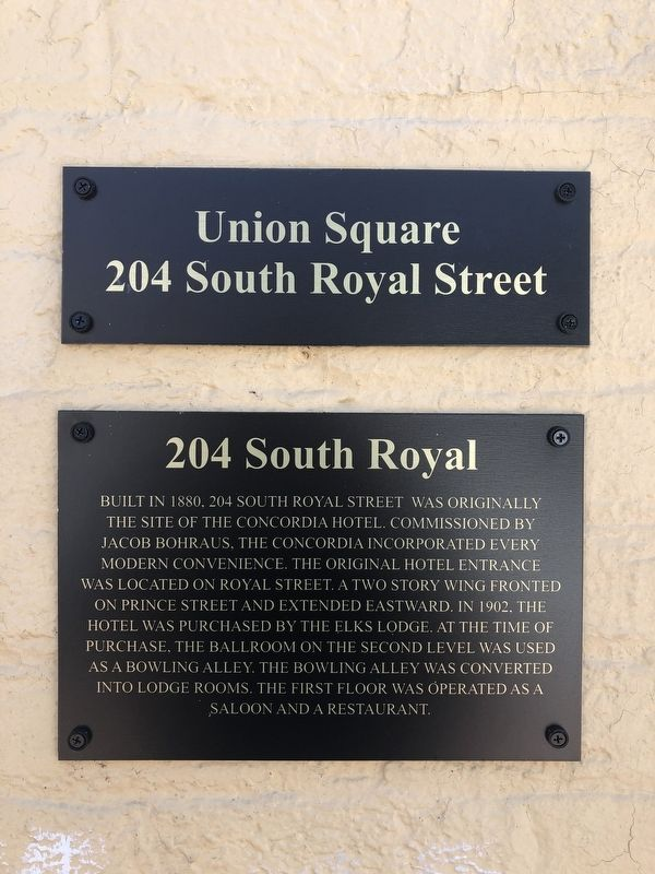 204 South Royal Marker image. Click for full size.