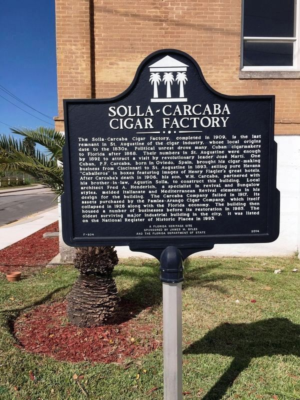 Solla-Carcaba Cigar Factory Marker image. Click for full size.