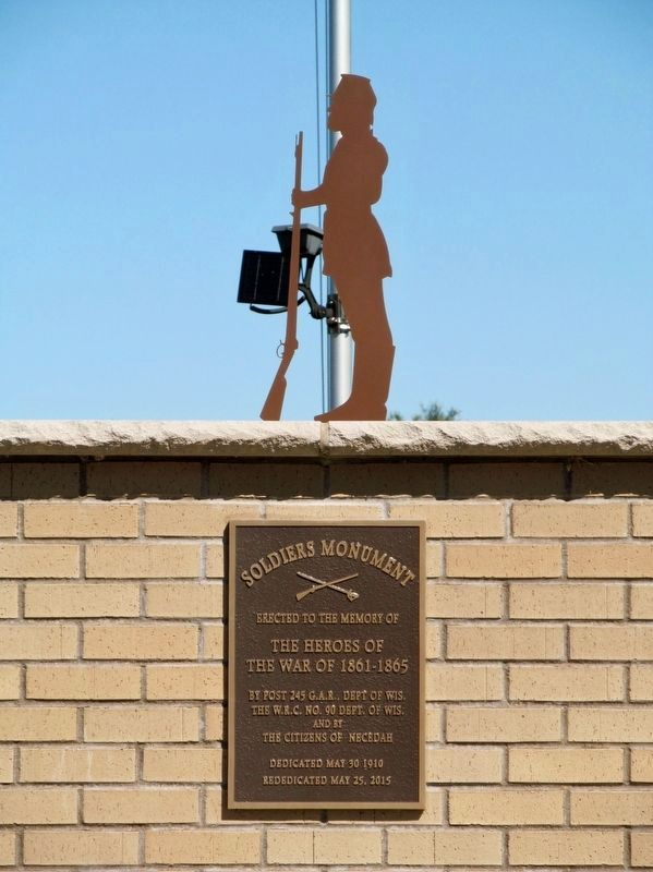 Rededicated Soldiers Monument image. Click for full size.