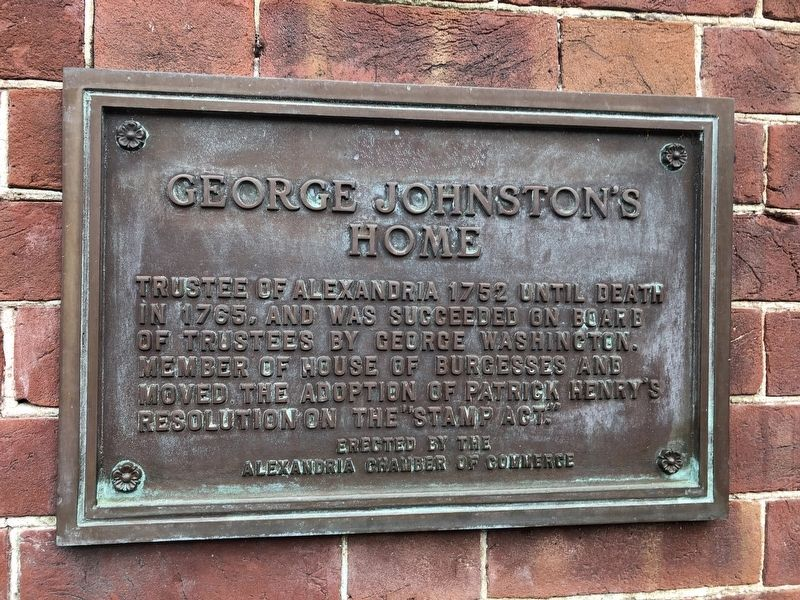 George Johnston's Home Marker image. Click for full size.