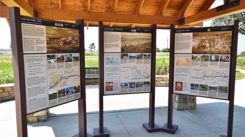 A Look Back in Time Marker Kiosk (<i>this marker is on the right</i>) image. Click for full size.
