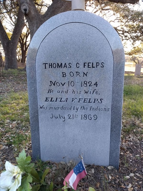 Thomas C. and Eliza V. Felps Marker image. Click for full size.
