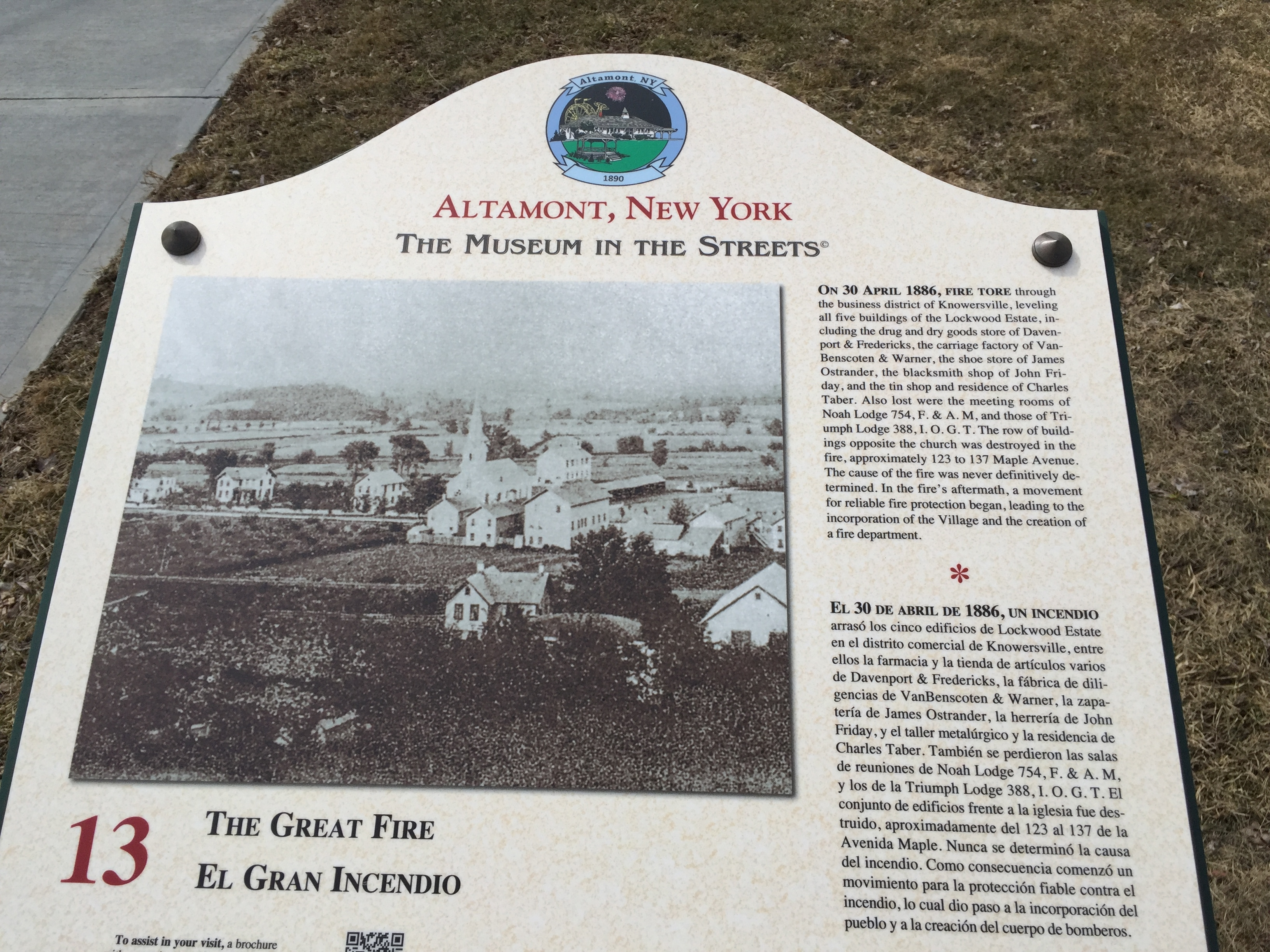 The Great Fire Marker