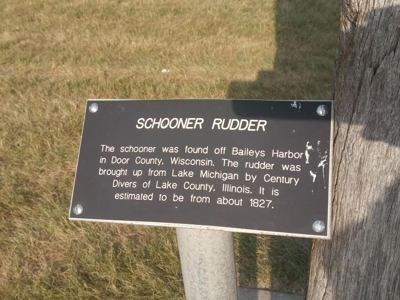 Schooner Rudder Marker image. Click for full size.