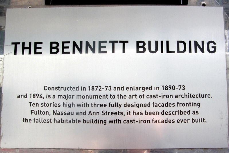 The Bennett Building Marker image. Click for full size.