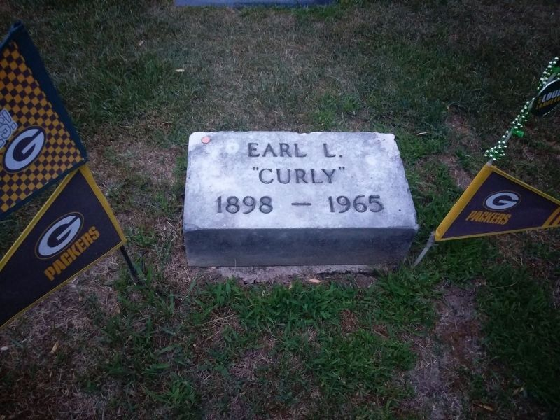Curly Lambeau's Tombstone image. Click for full size.