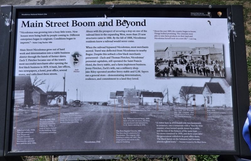 Main Street Boom and Beyond Marker image. Click for full size.