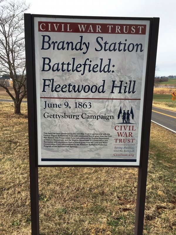 Brandy Station Battlefield: Fleetwood Hill Sign image. Click for full size.