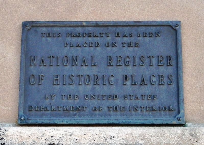 Mitchell County Courthouse<br>National Register of Historic Places Plaque image. Click for full size.