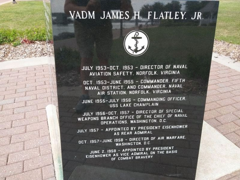 Vice Admiral James H. Flatley Jr. Marker Side Five image. Click for full size.