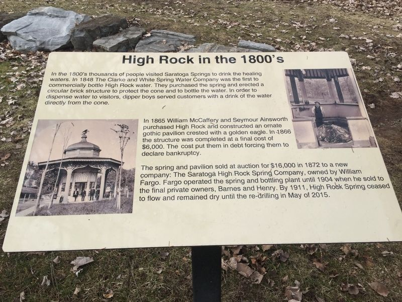 High Rock in the 1800's Marker image. Click for full size.