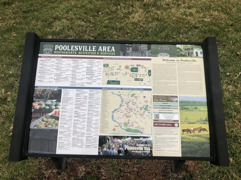 Welcome to Poolesville Marker image. Click for full size.