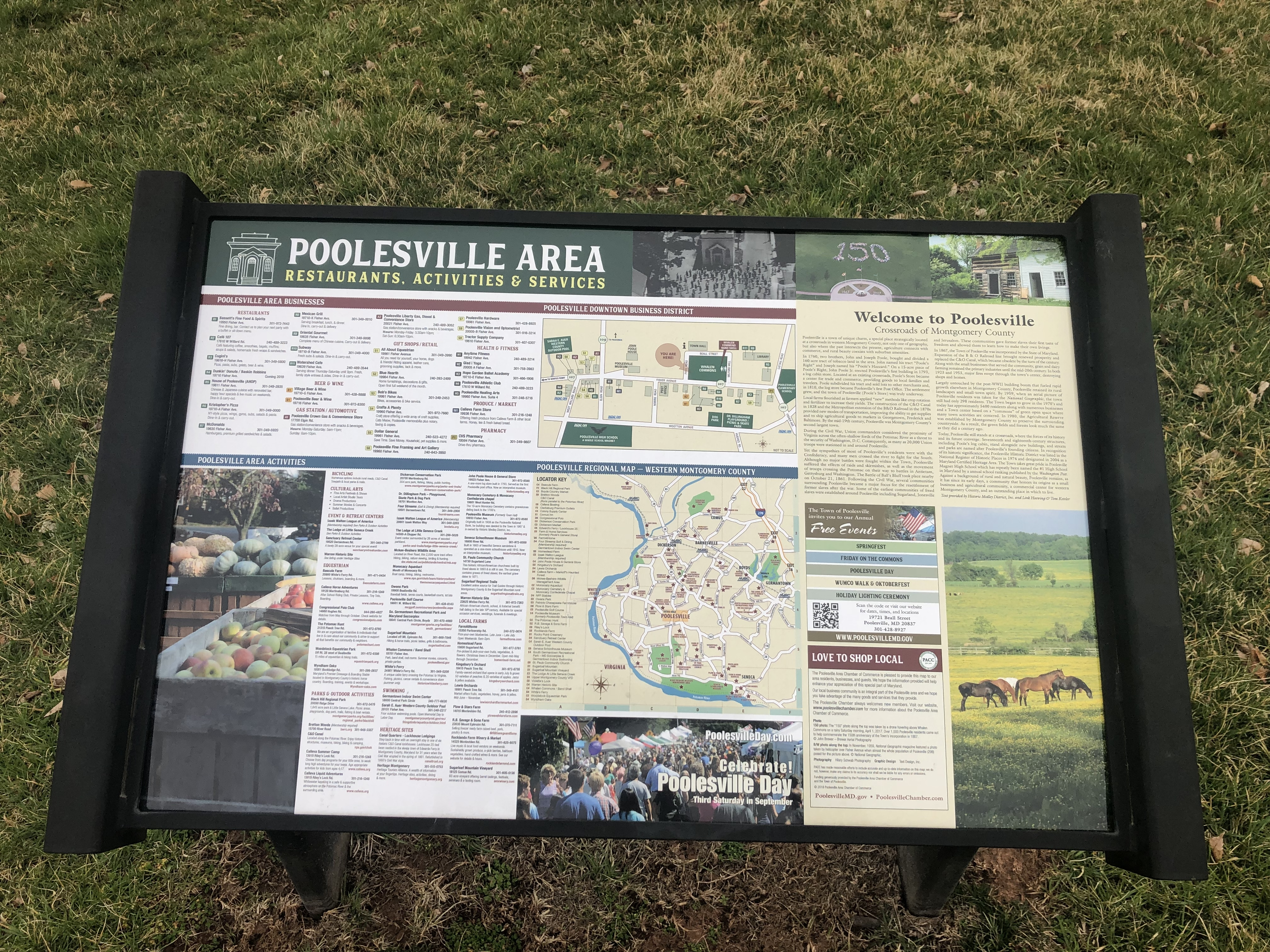 Welcome to Poolesville Marker