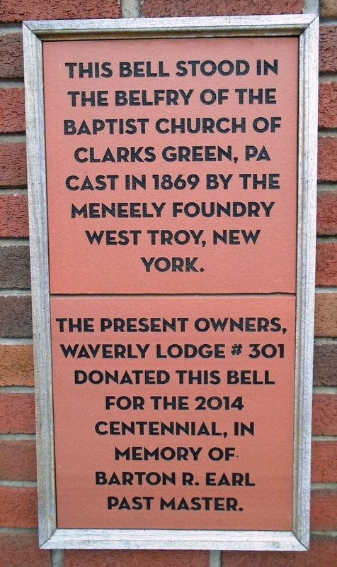 Baptist Church Bell Marker image. Click for full size.