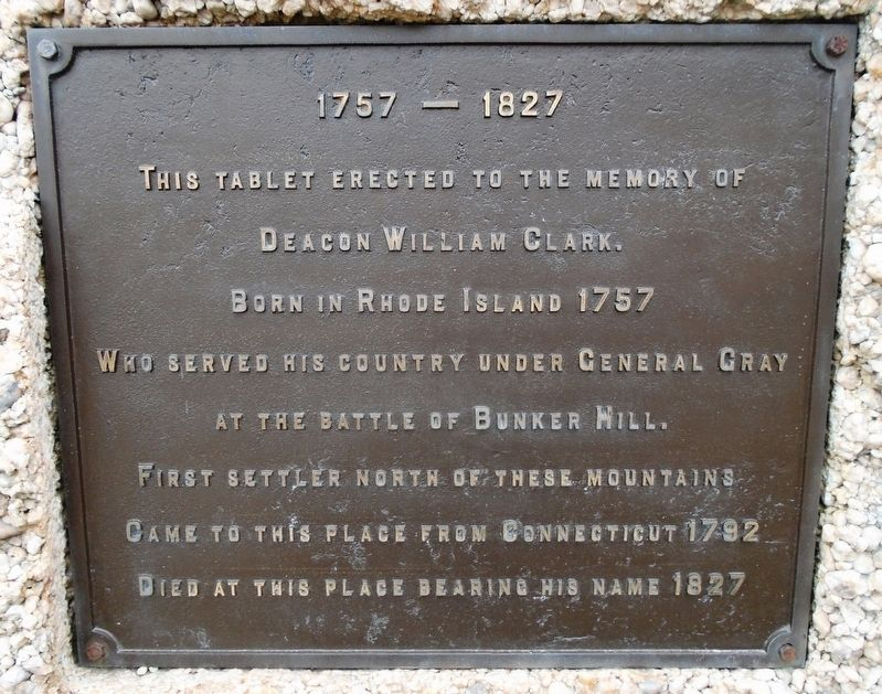 Deacon William Clark Marker image. Click for full size.