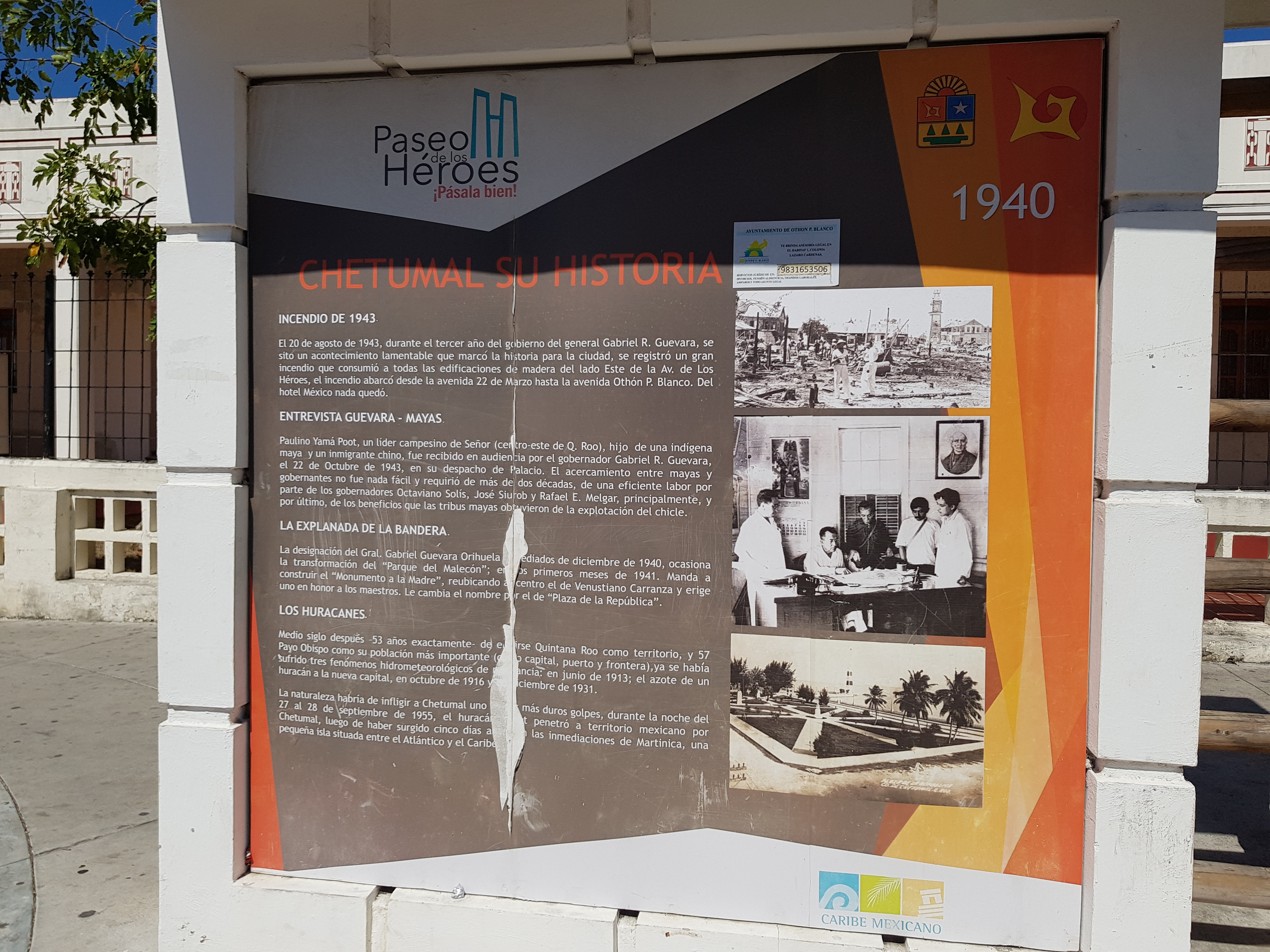 The History of Chetumal: 1940-1950 Marker