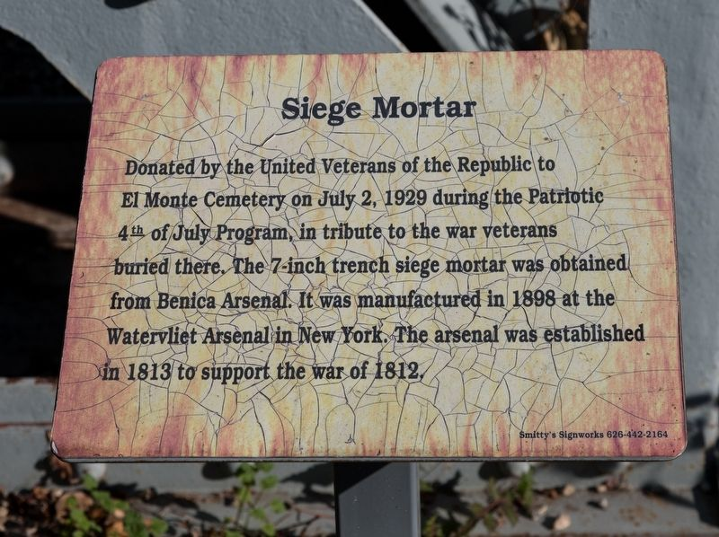 Siege Mortar Marker image. Click for full size.