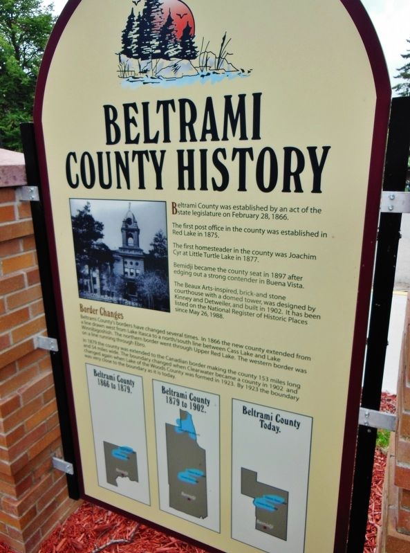 Beltrami County History Marker image. Click for full size.