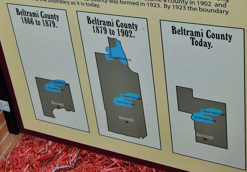 Marker detail: Beltrami County Boundaries image, Touch for more information