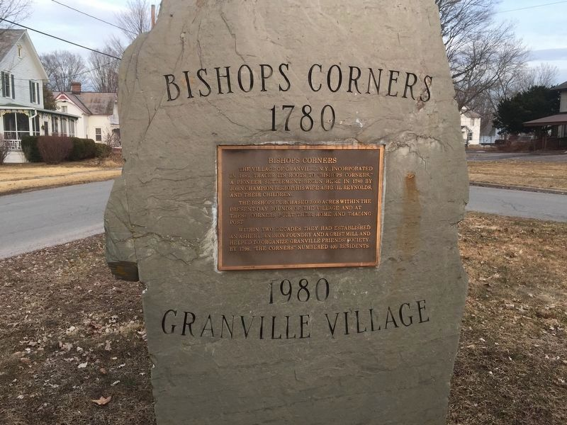 Bishops Corners Marker image. Click for full size.