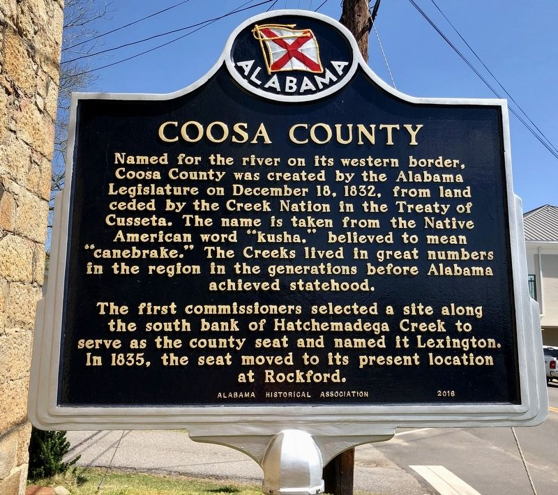 Coosa County Marker image. Click for full size.
