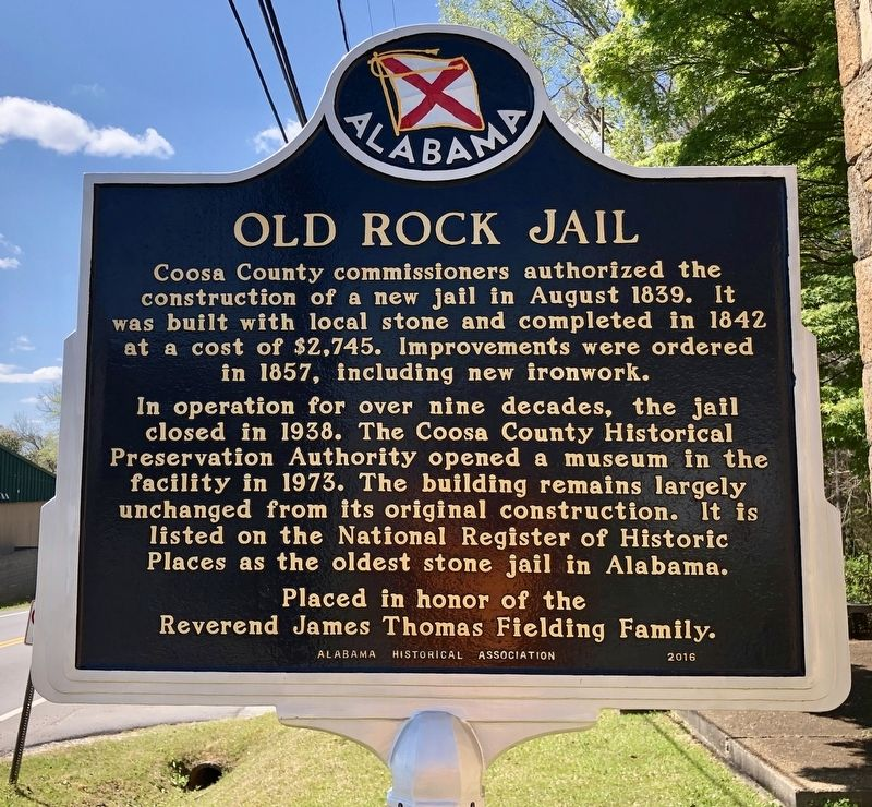 Old Rock Jail Marker image. Click for full size.
