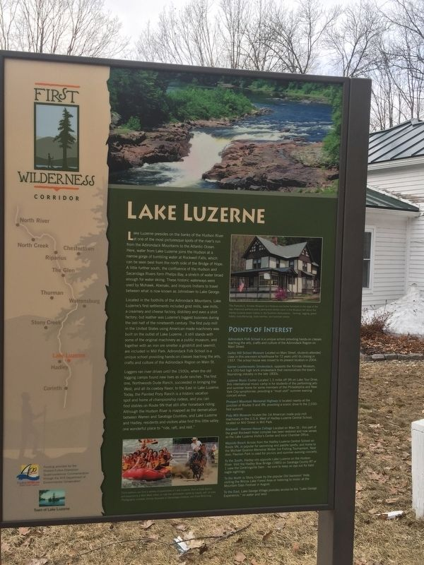 Lake Luzerne Marker image. Click for full size.