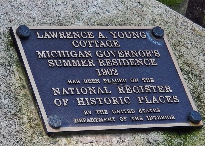 Lawrence A. Young Cottage Marker image. Click for full size.