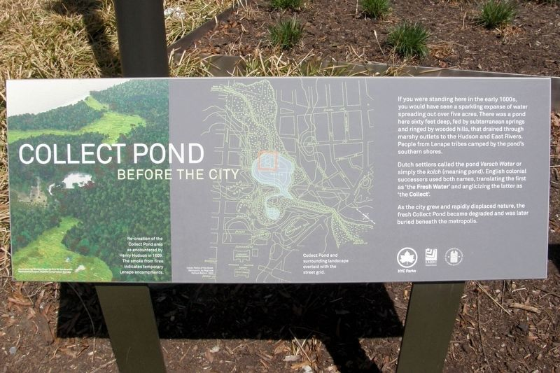 Collect Pond Before The City Marker image. Click for full size.