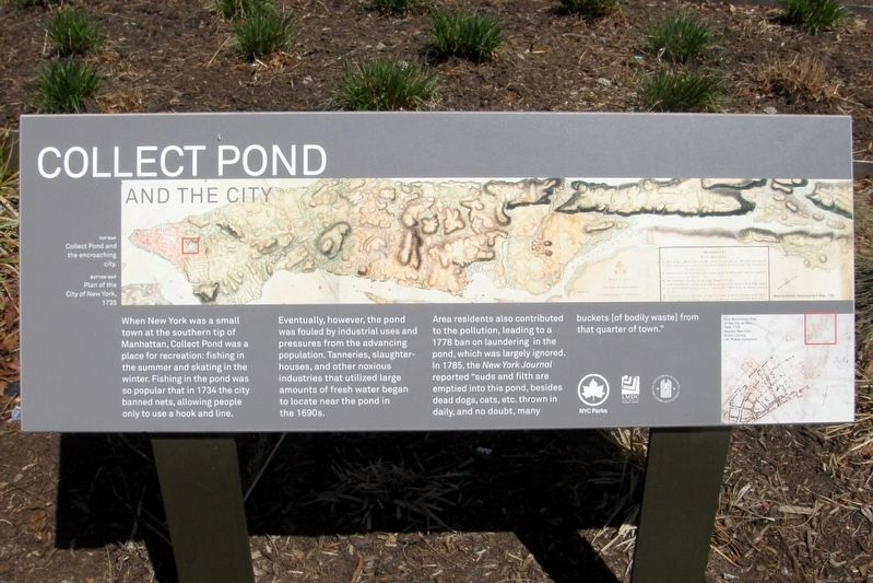 Collect Pond and the City Marker image. Click for full size.