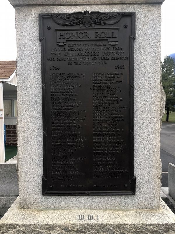 Honor Roll Marker [Left side] image. Click for full size.