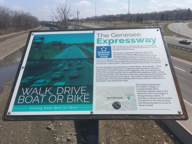 The Genesee Expressway Marker image. Click for full size.