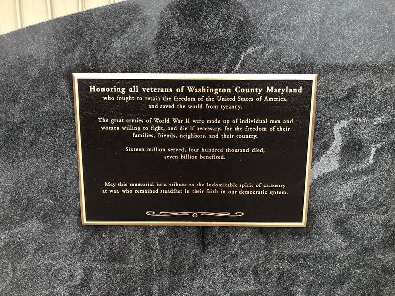 WWII Marker [Left plaque] image. Click for full size.