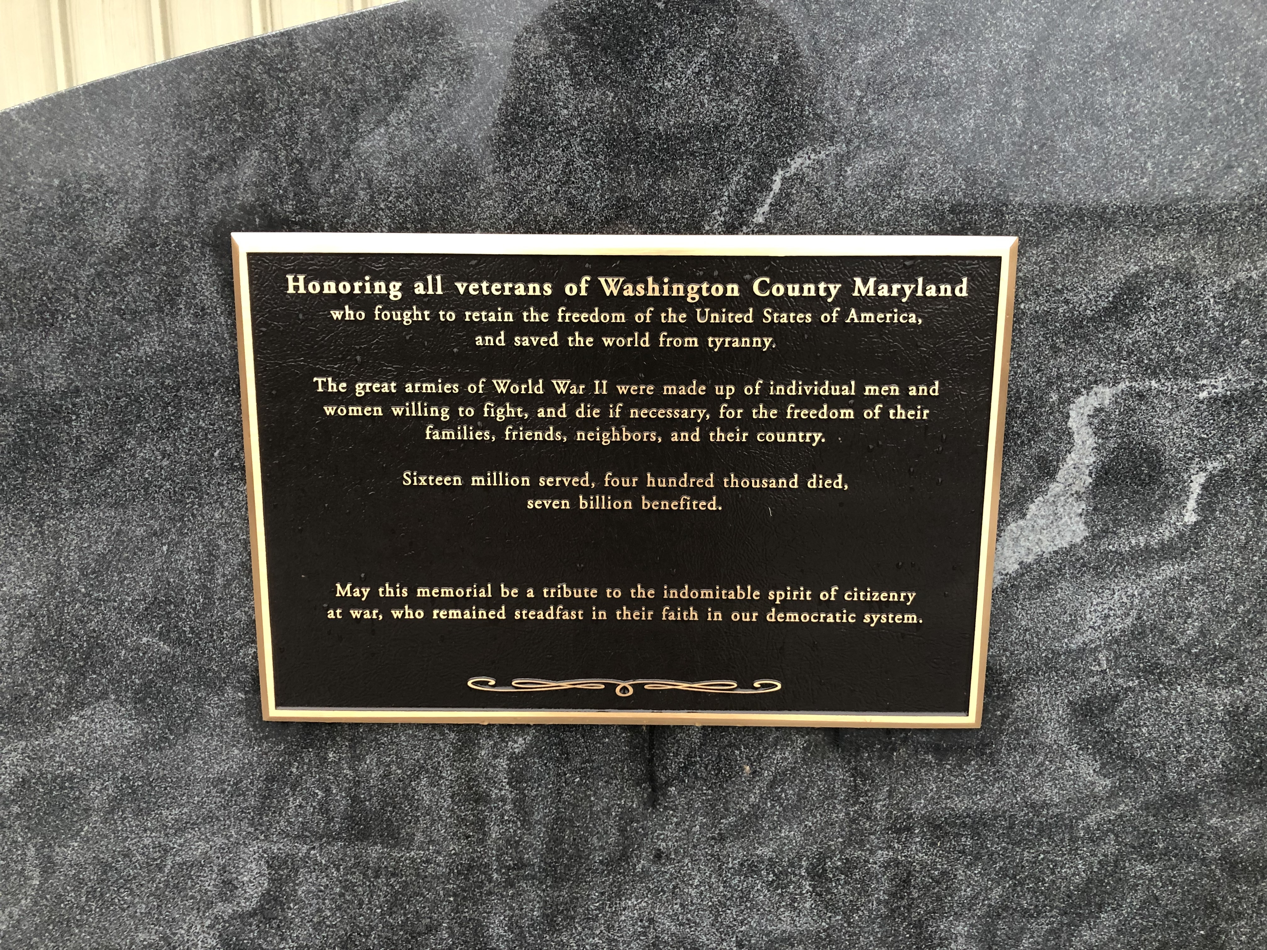 WWII Marker [Left plaque]