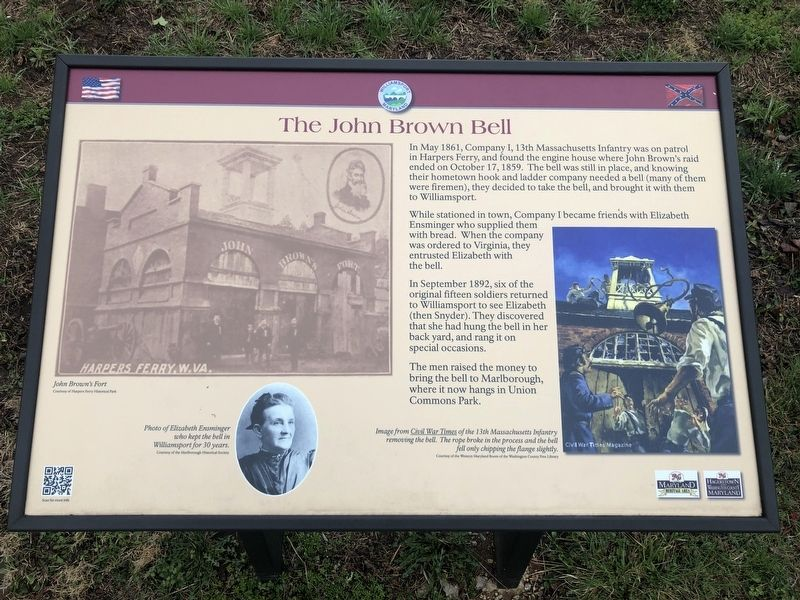 The John Brown Bell Marker image. Click for full size.