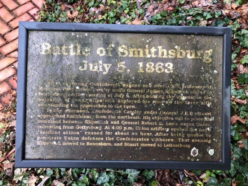 Battle of Smithsburg Marker image. Click for full size.