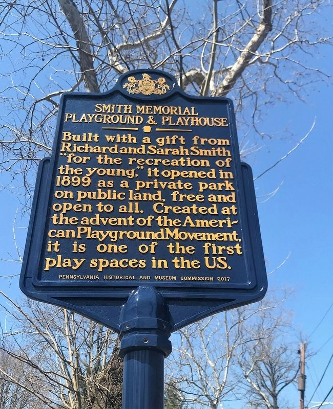 Smith Memorial Playground & Playhouse Marker image. Click for full size.