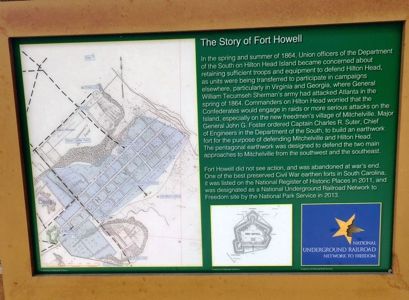 The Story of Fort Howell Marker image. Click for full size.