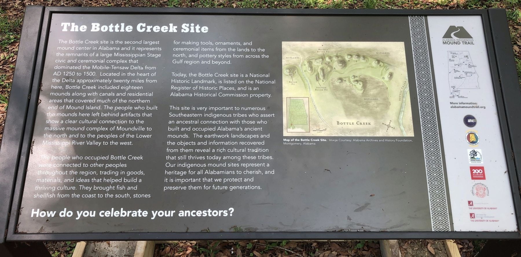 The Bottle Creek Site Marker image. Click for full size.