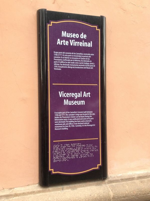 Viceregal Art Museum Marker image. Click for full size.