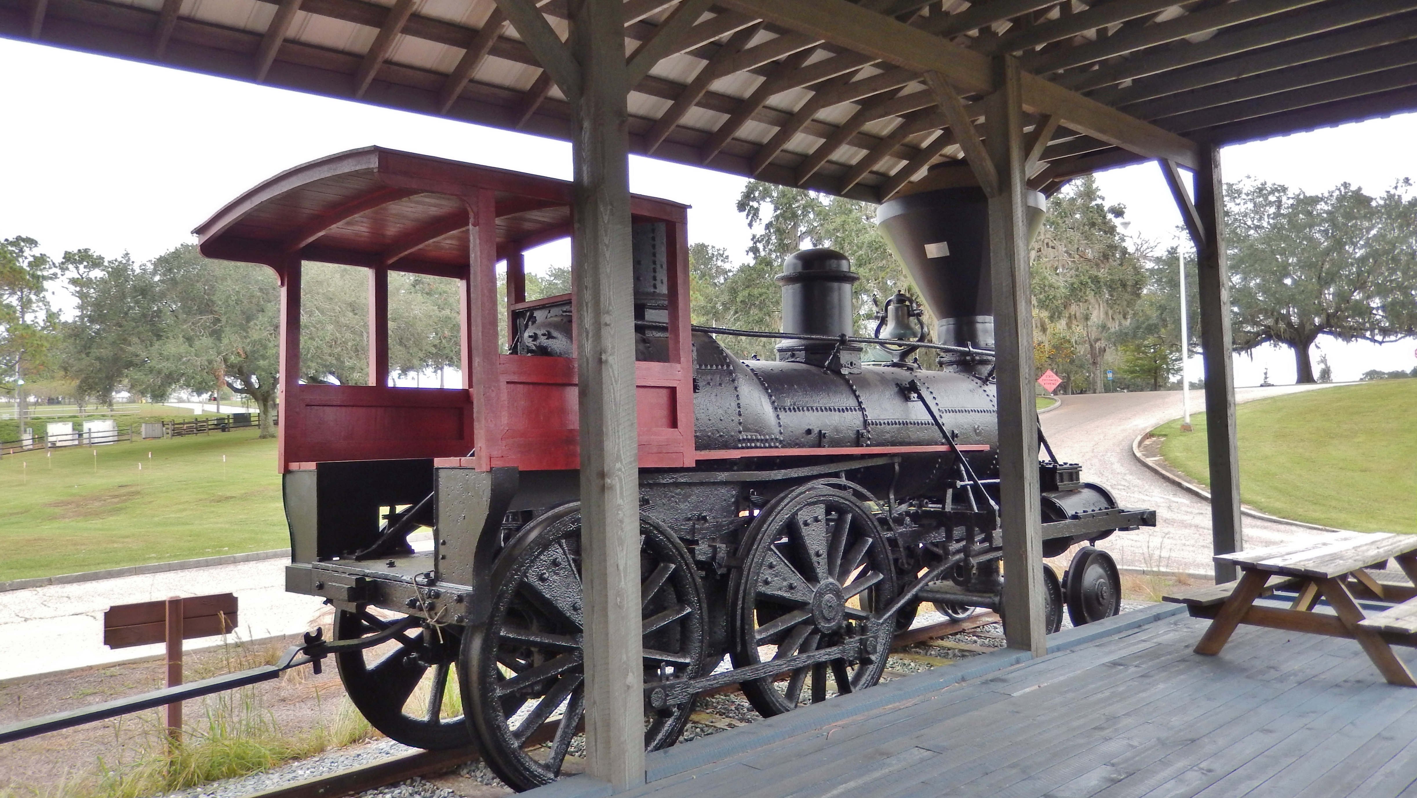 The Luraville Locomotive (<i>view from marker</i>)